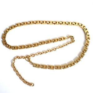 Vintage 90's Gold Chain Link Belt Supermodel